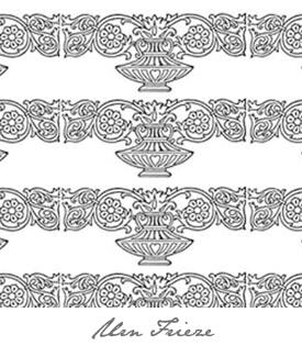 Dollhouse Wallpapers Urn Frieze Button