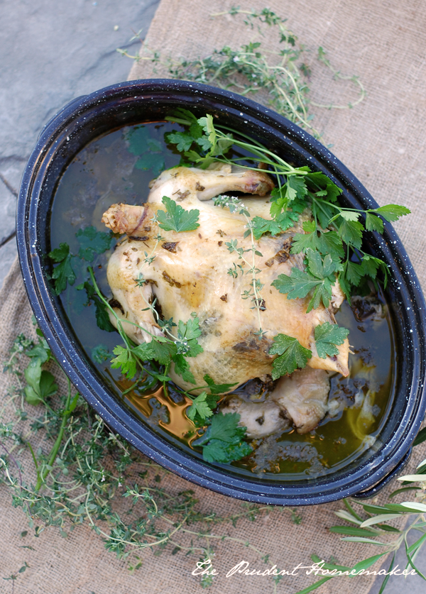 Herb Roasted Chicken The Prudent Homemaker