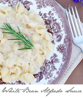 Pasta with White Bean Alfredo Sauce button