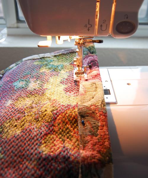 Sew flap edge