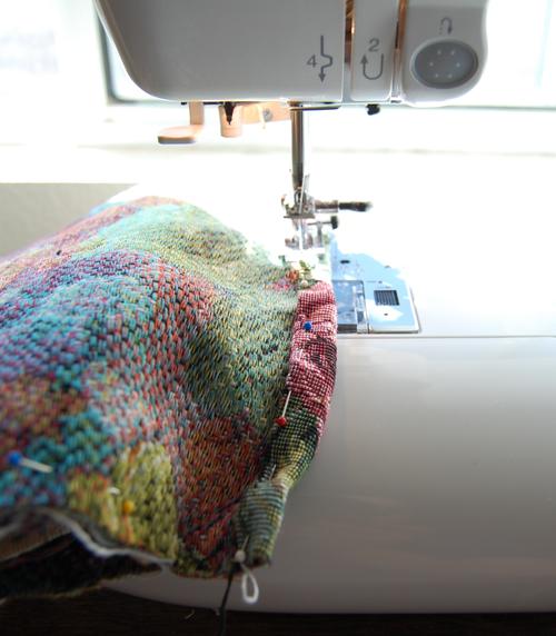 Sew top edge