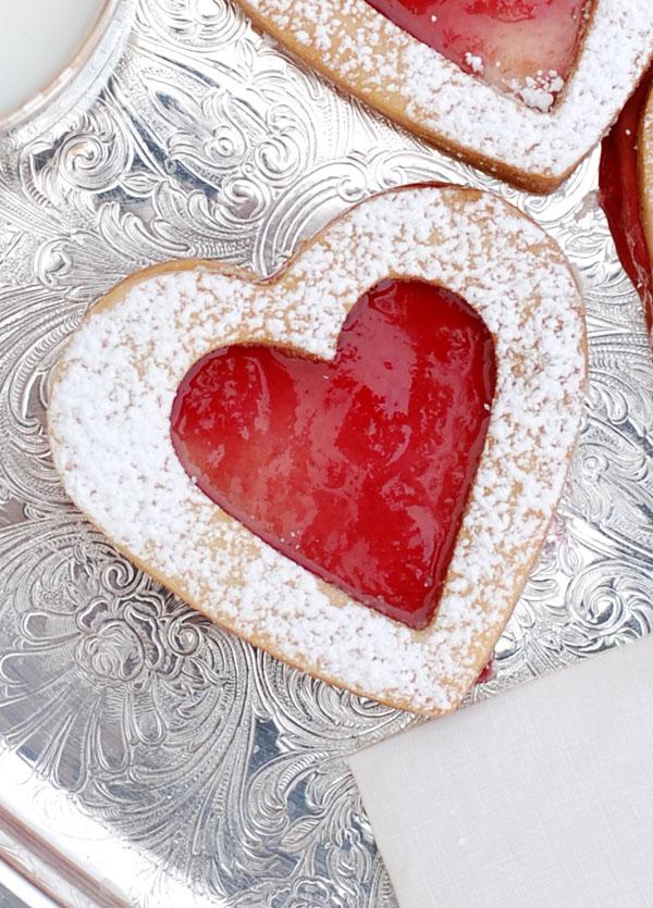 Shortbread Heart Sandwich Cookies