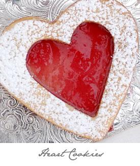 Shortbread Heart Sandwich Cookies Button