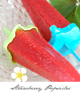 Strawberry Popsicles Button