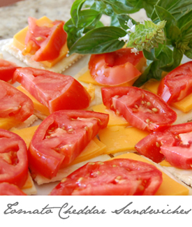 Tomato Cheddar Sandwiches Button