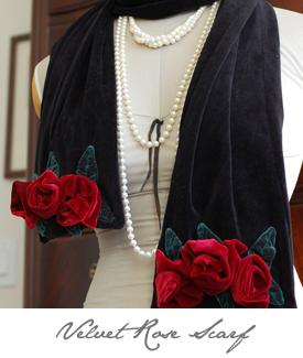 Velvet Rose Scarf Button