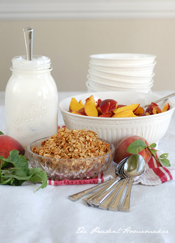 Yogurt Peaches and Granola The Prudent Homemaker