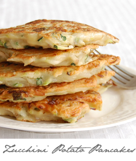 Zucchini Potato Pancakes Button