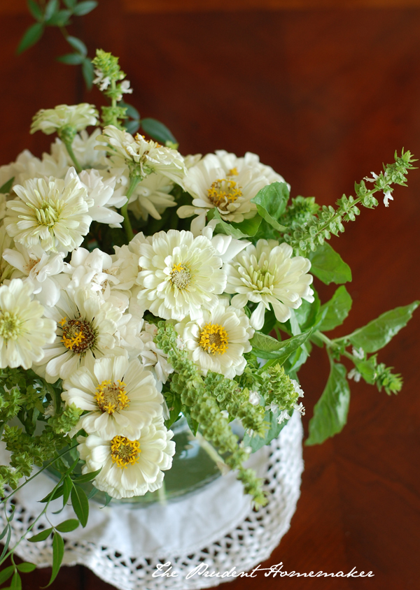 Zinnias Roses and Basil The Prudent Homemaker