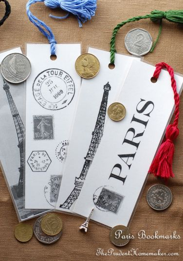 A Gift a Day: Day Twelve–Paris Bookmarks