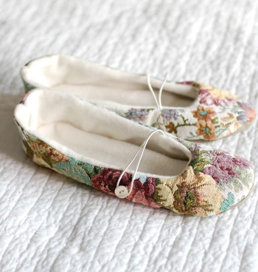 A Gift a Day: Day Fifteen–Tapestry Slippers