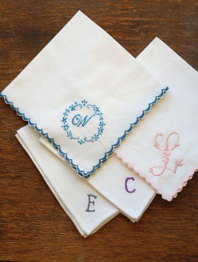A Gift a Day: Day Seventeen–Embroidered Handkerchiefs