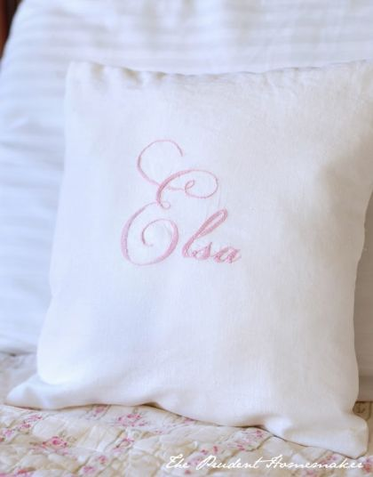A Gift a Day 2012: Day Eight: Hand-Embroidered Pillow