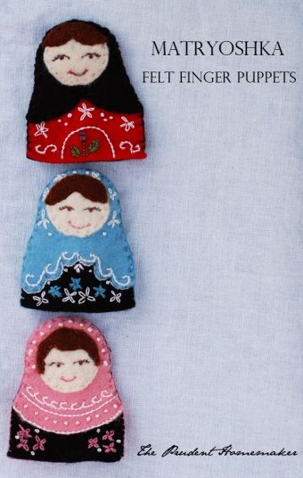 A Gift a Day 2013: Day Four: Matryoshka Felt Finger Puppets