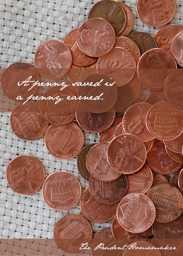 A Penny Saved The Prudent Homemaker