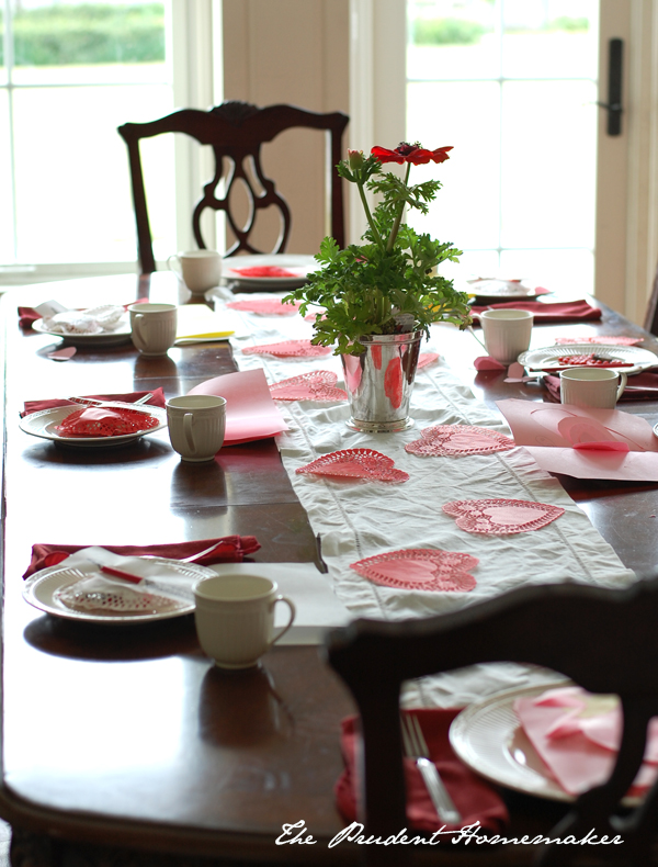 Valentines Table The Prudent Homemaker