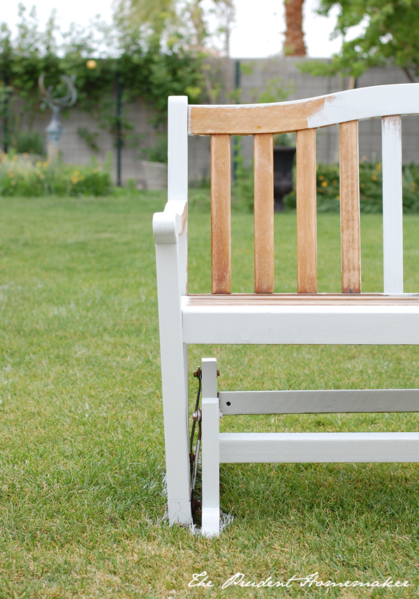 Painted Bench The Prudent Homemaker