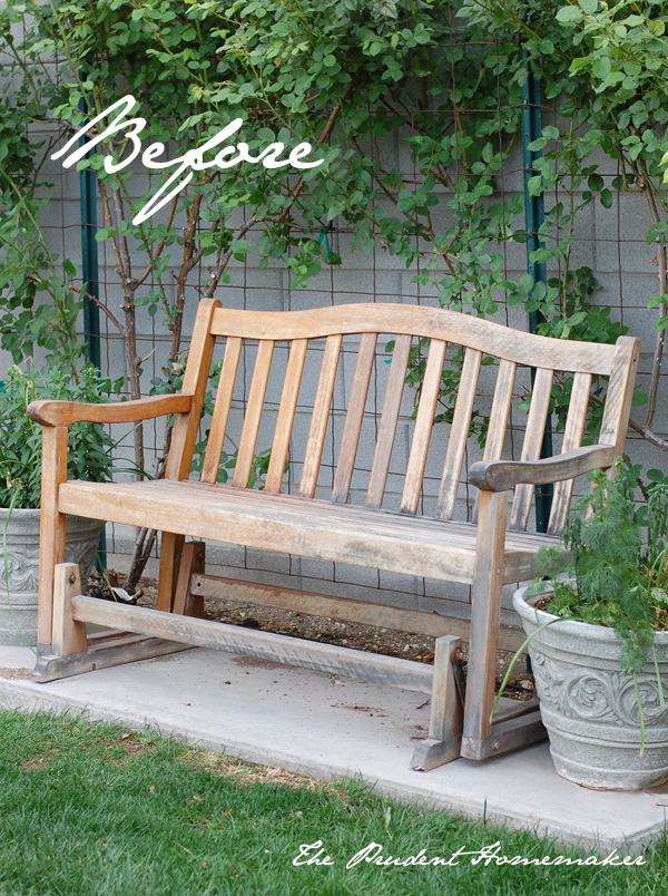 White Bench Before The Prudent Homemaker