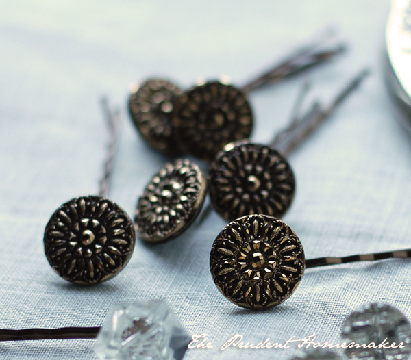 Button Jeweled Bobby Pins 3 The Prudent Homemaker