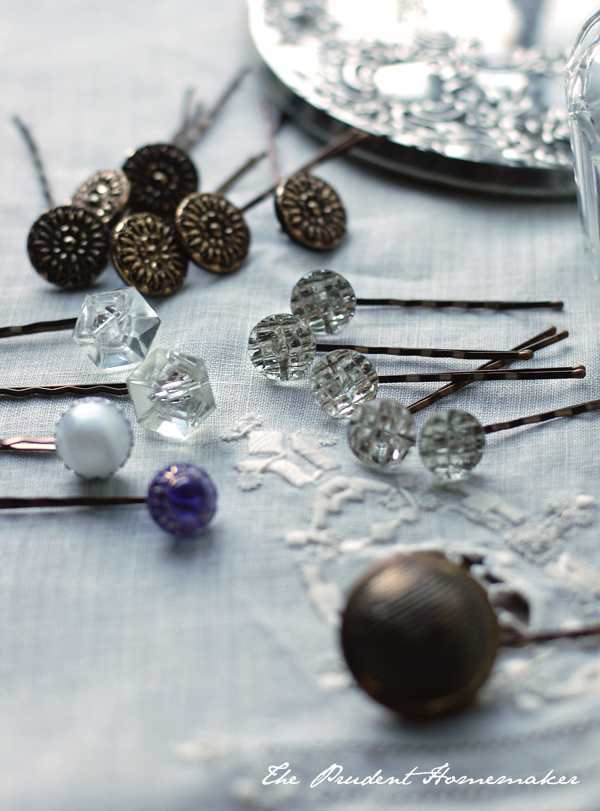 Button Jeweled Bobby Pins The Prudent Homemaker