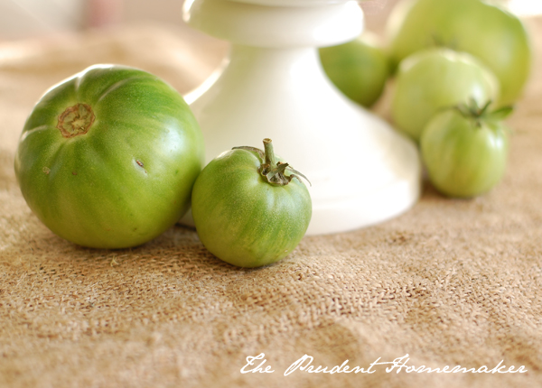 Green Tomatoes The Prudent Homemaker
