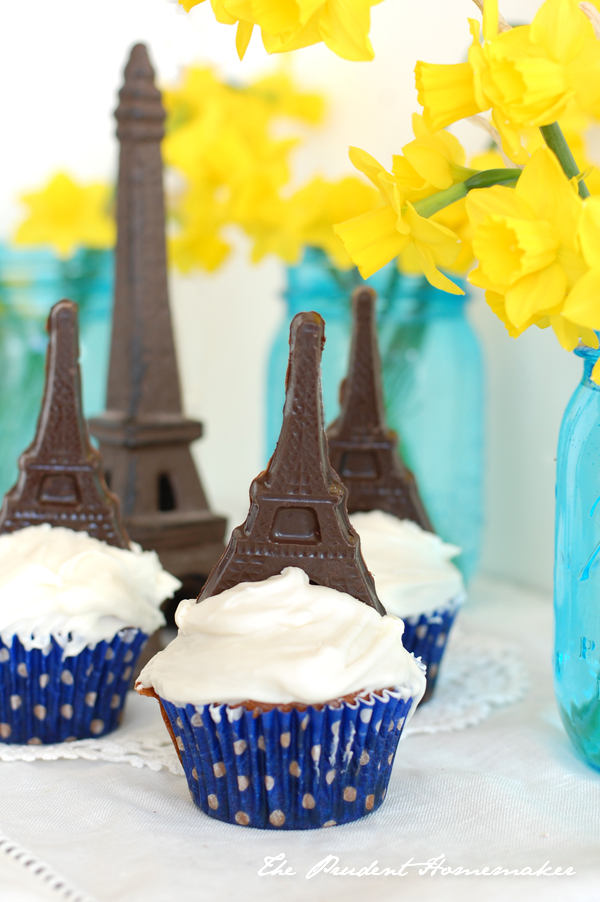Eiffel Tower Cupcakes The Prudent Homemaker
