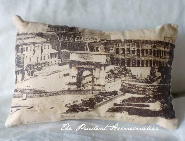A Gift a Day: Day Ten: Rome Pillow