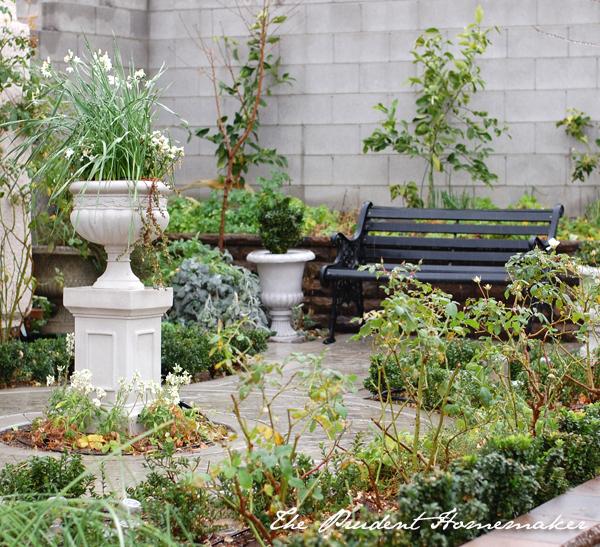 White Garden in January The Prudent Homemaker