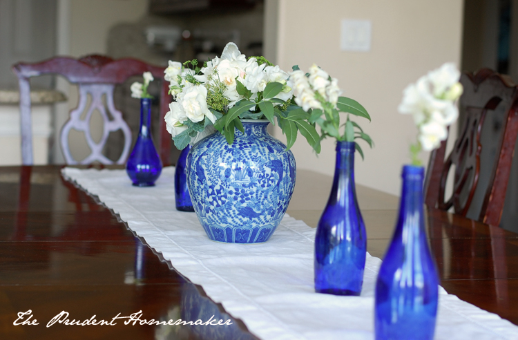 Blue and White Table The Prudent Homemaker