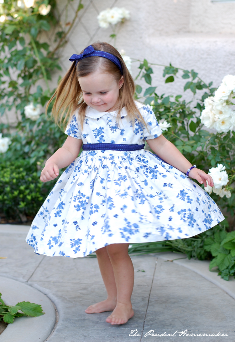 Ivory birthday dress The Prudent Homemaker