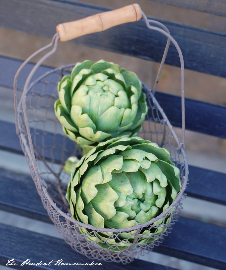 Artichokes in Basket The Prudent Homemaker