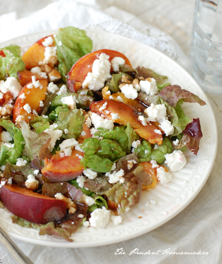Peach Salad with Feta The Prudent Homemaker