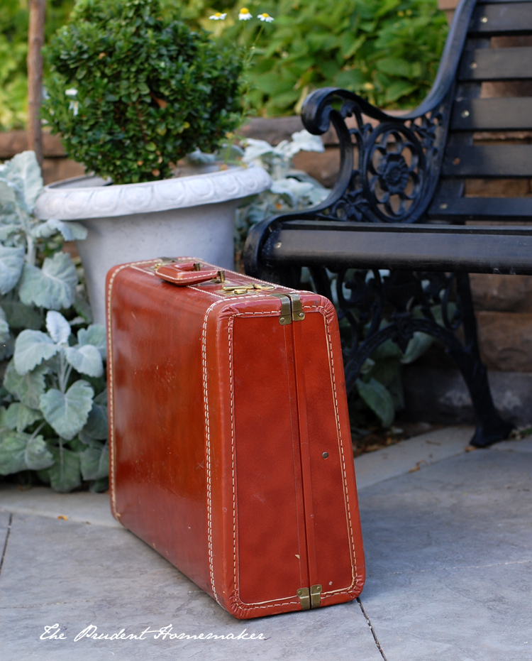 Vintage Suitcase The Prudent Homemaker