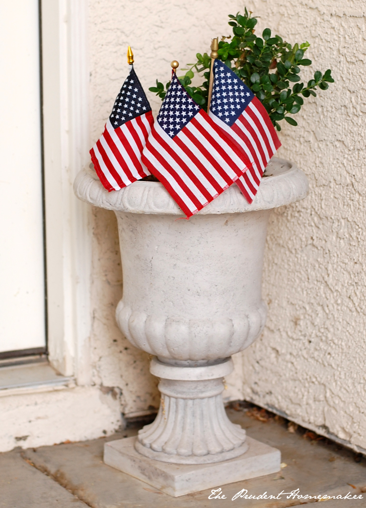 Flags in Urn The Prudent Homemaker