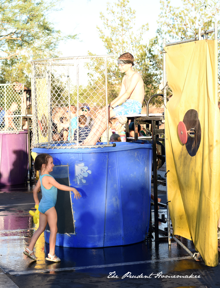 Pioneer Day Dunking her brother