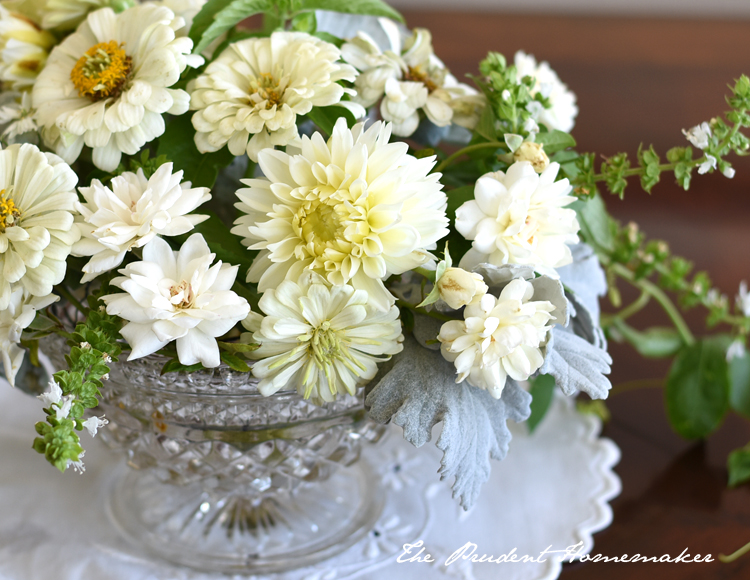 White Arrangement detail The Prudent Homemaker