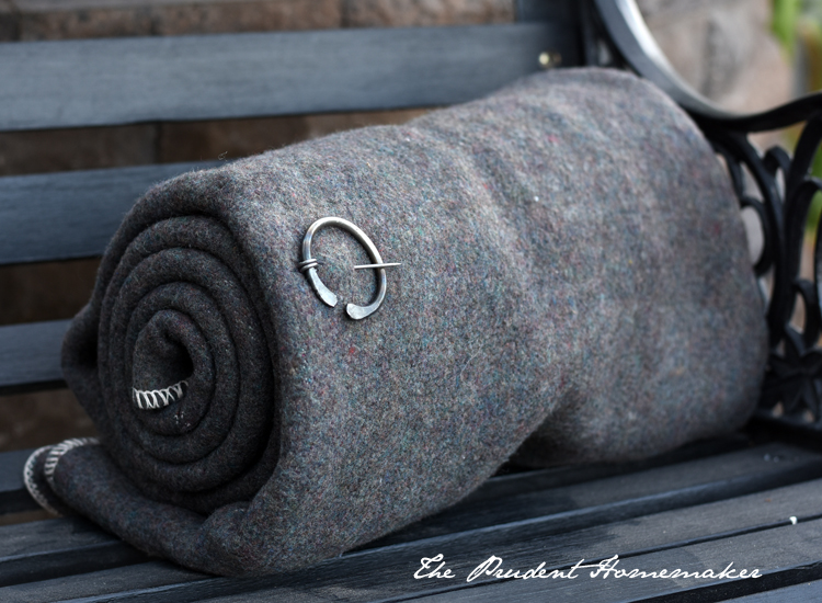 72 Hour Kit Wool Blanket and Pin The Prudent Homemaker