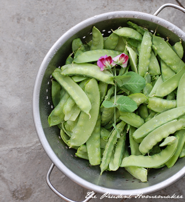 Snow Peas The Prudent Homemaker