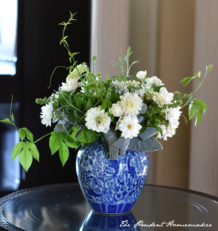 White September Arrangement The Prudent Homemaker