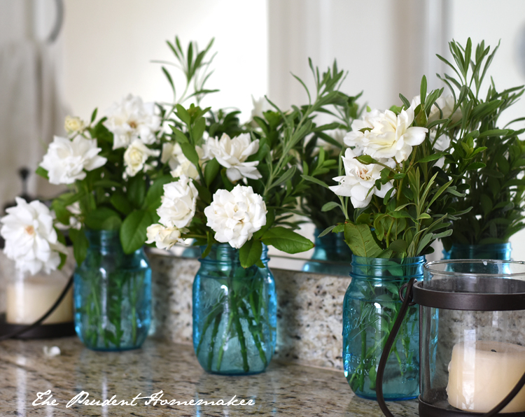 White Roses in Blue Jars 2 The Prudent Homemaker