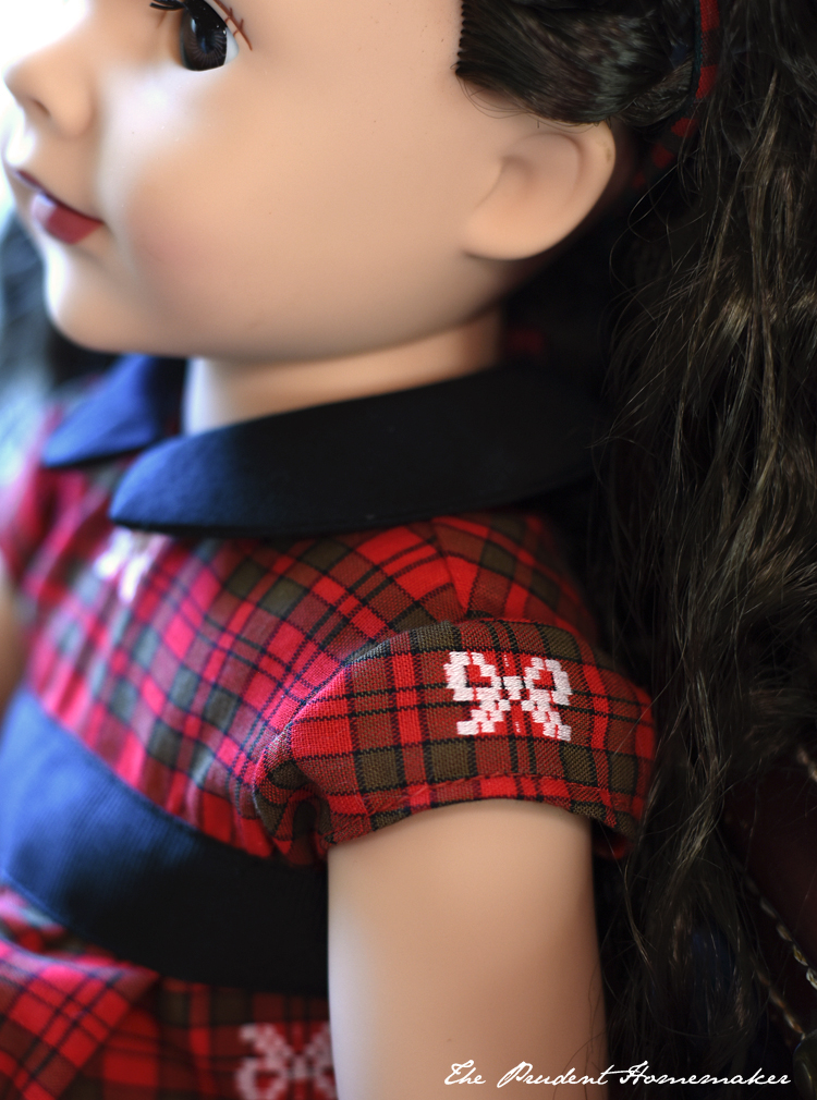 Christmas Doll Dress Detail The Prudent Homemaker