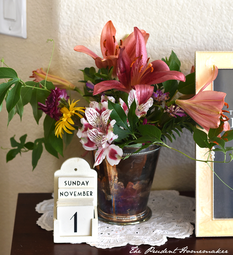 Fall Flowers The Prudent Homemaker