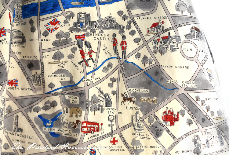 London Map apron detail The Prudent Homemaker