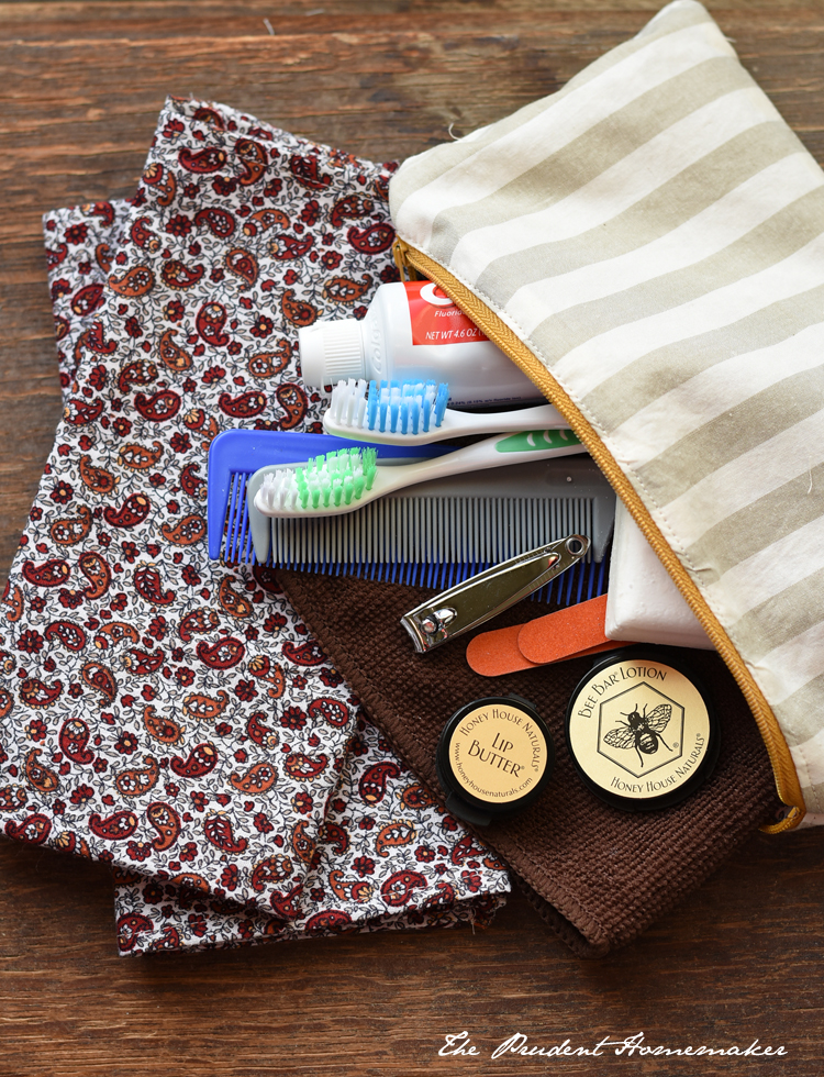 OCC Toiletry Bag The Prudent Homemaker