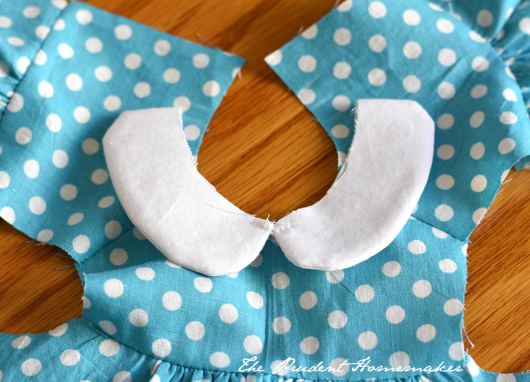 Polka Dot Doll Dress Detail The Prudent Homemaker
