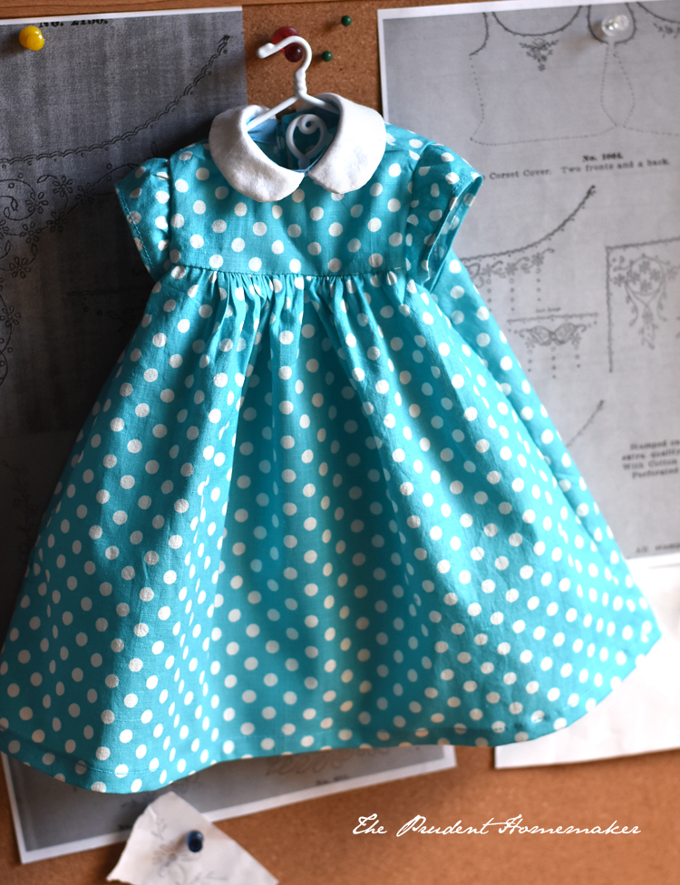 Polka Dot Doll Dress The Prudent Homemaker