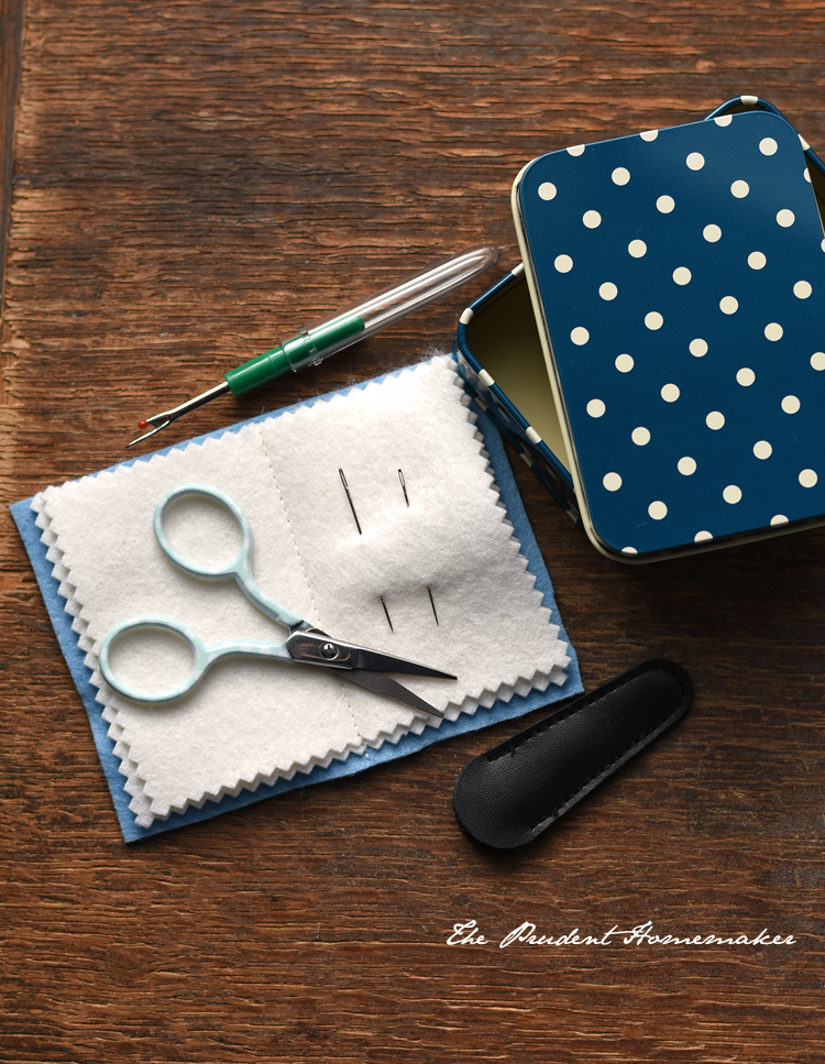 Sewing Kit in a Tin 1 The Prudent Homemaker