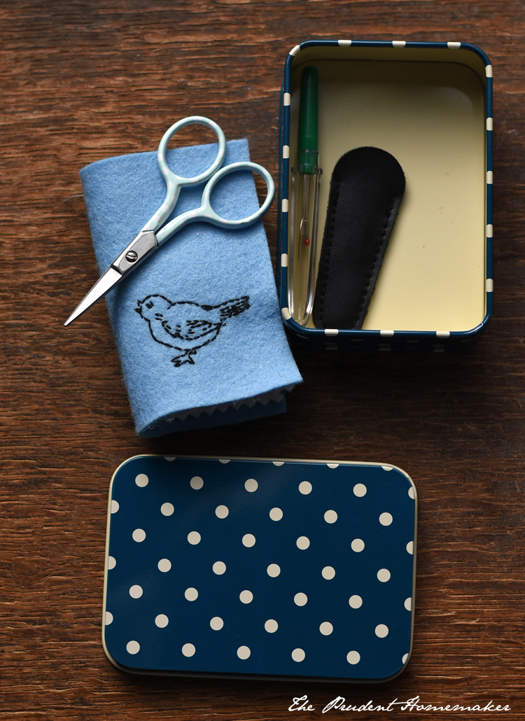 Sewing Kit in a Tin 2 The Prudent Homemaker