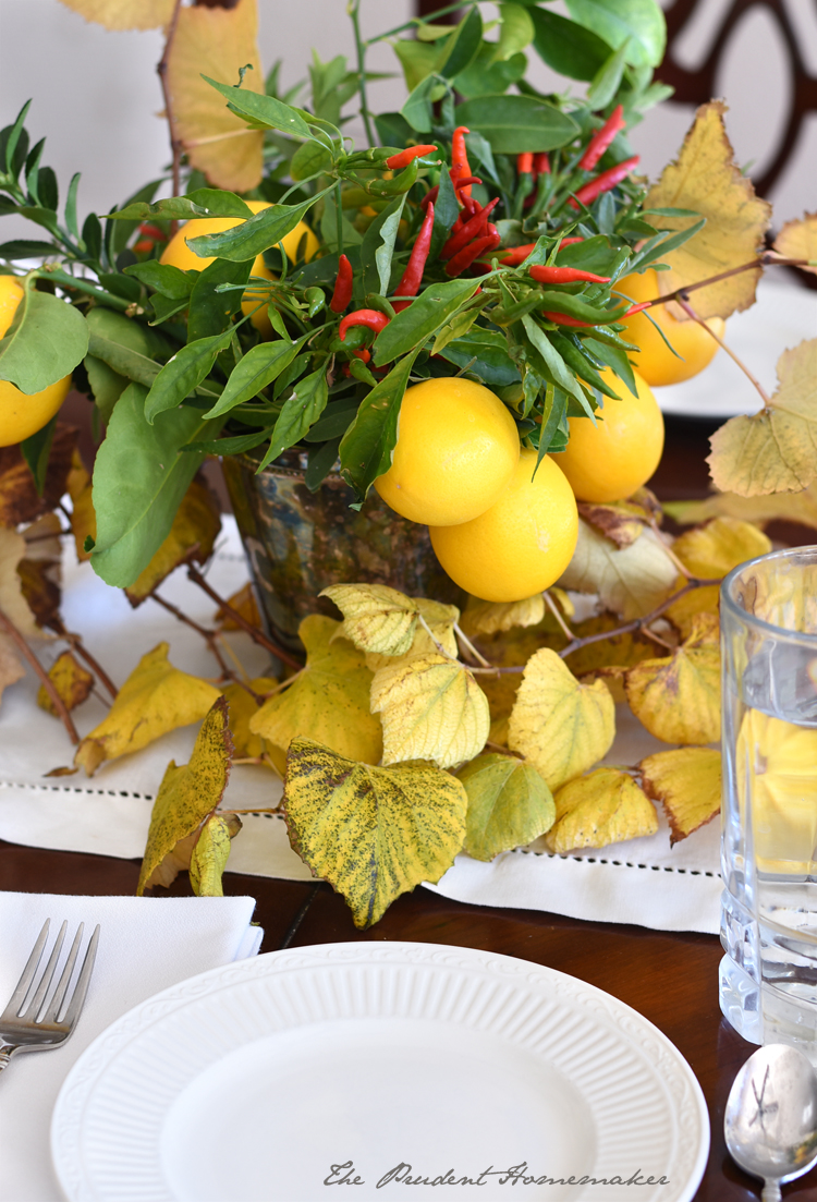 Thanksgiving Place Setting The Prudent Homemaker