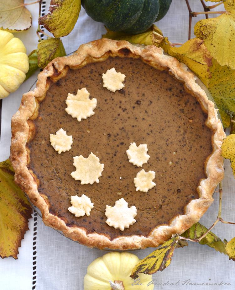 Thanksgiving Pumpkin Pie The Prudent Homemaker